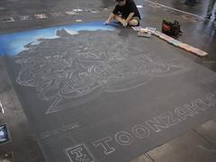 NYCC-NYAF 2010 (8) Yu-Gi-Oh Chalk Art
