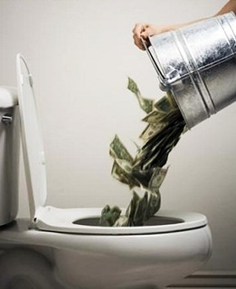 Flushing Away Money
