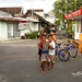 Anak-anak bermain. : Children playing in Punggawan. Photo by Aditya