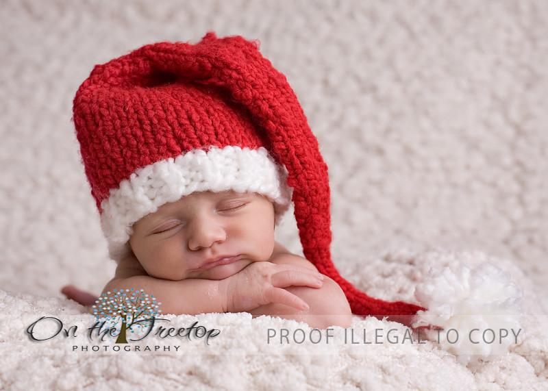 Custom Knit Red and White Long Stocking Christmas Santa Ha…  bcdb8e99fb2