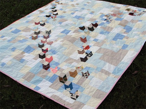 Flying Birds Quilt, finished