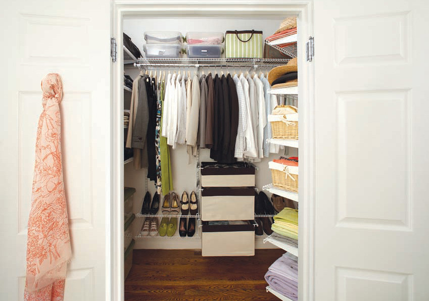 Cheap solutions closet organization How to organize your clothes without a closet