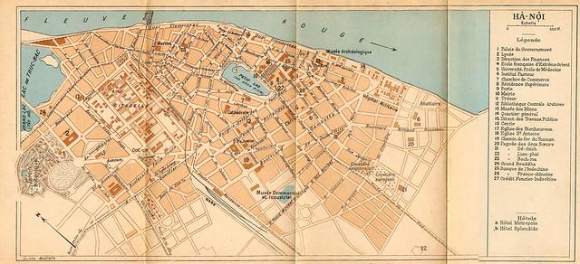 Plan de la Ville d'Hanoi - Guide Madrolle, 1932