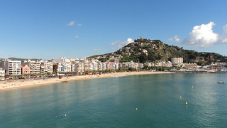 Blanes from the sea