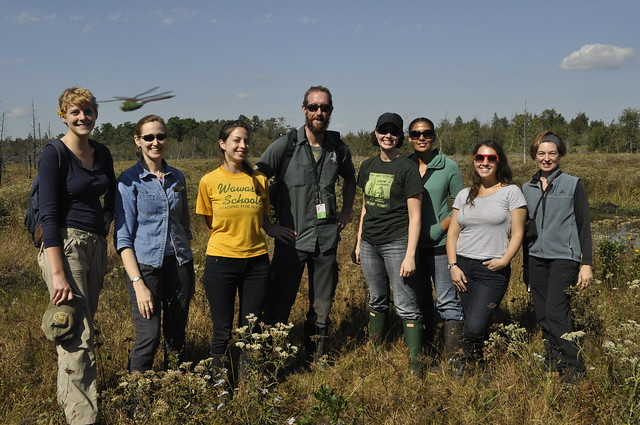The team after a long day of collecting. A dragonfly tried to get in on our picture! Photo by Anjali Satyu.