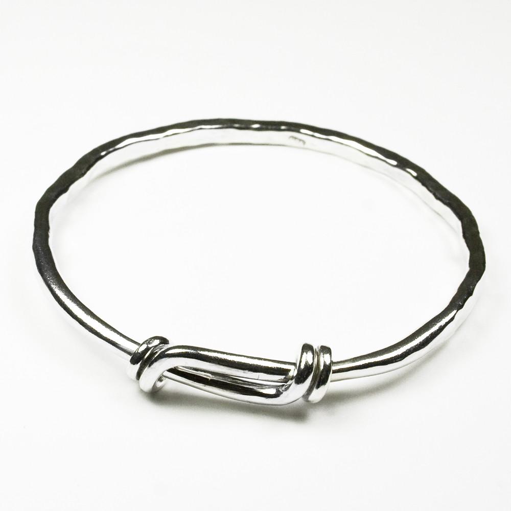 Silver Band Bracelet: HAMMERED STERLING SILVER BRACELET