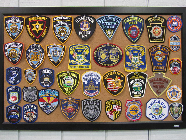 Police Fire and Rescue Patches