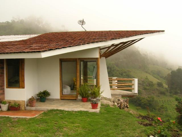 Teja De Barro Plana Casa Construida En Clima Frio