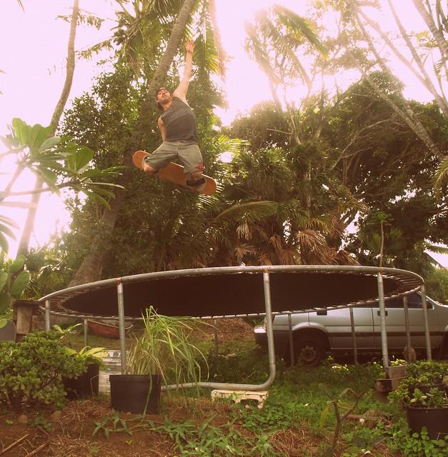 trampoline fun.