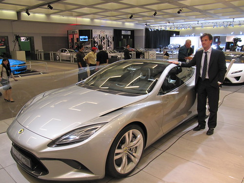 Dany Bahar with the Lotus Elite concept @ LA Auto Show 2010