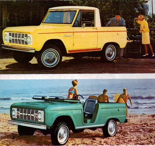1966 Ford Bronco 4X4 Pickup and  Roadster