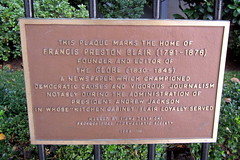 Photo of Francis Preston Blair red plaque