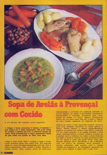Tele Culinária e Doçaria, Especial Outono, Setembro 1980 - 12