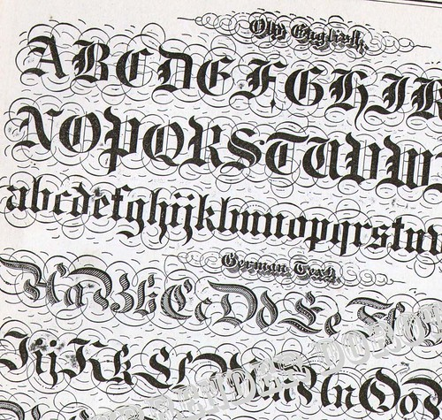 Lettering Alphabet Victorian Calligraphy Lessons 1886 A