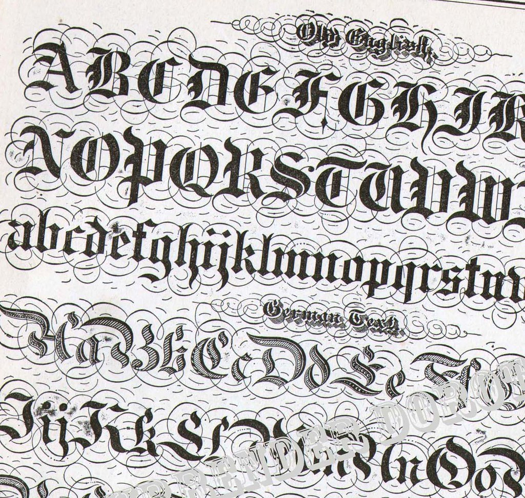 Lettering alphabet victorian calligraphy lessons a