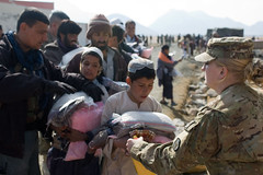 Afghan families receive food, clothing for winter months