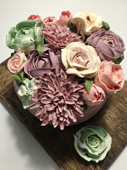 Floral Cake from Szikszai Katalin of Aalborg kager by Kate