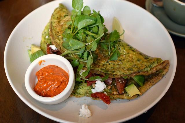 Green eggs omelette