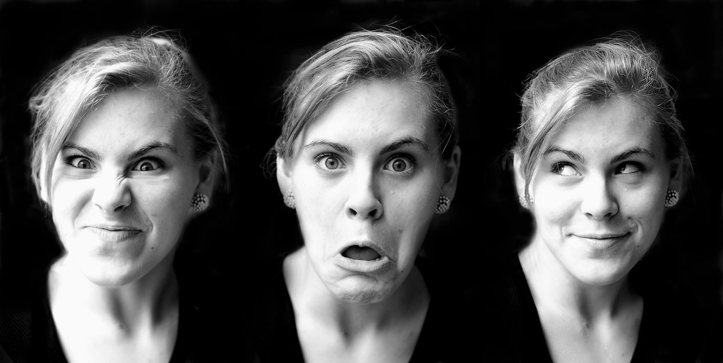 Think, Pictures of peoples facial expressions