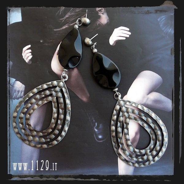 LGONICE orecchini onice nero - black onyx earrings 1129
