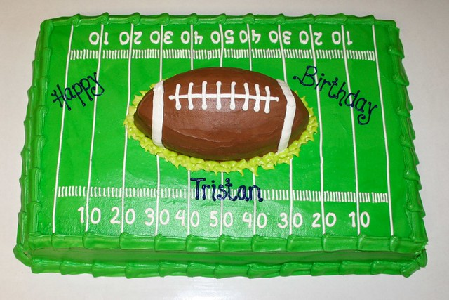 how to make a soccer field cake