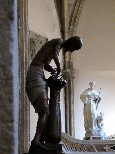 Alghero - Chiesa di San Francesco : Cristo alla colonna