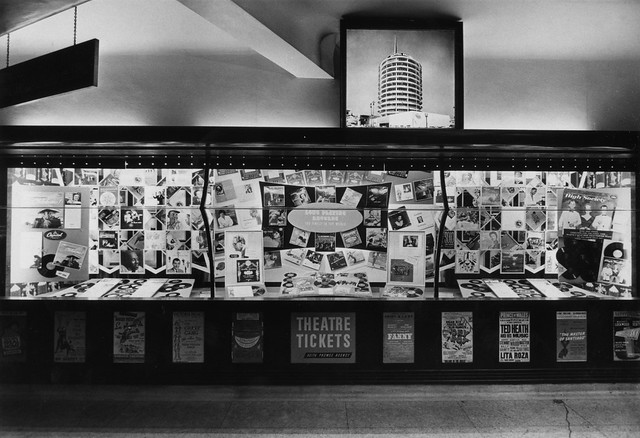 hmv 363 Oxford Street, London - Long Playing Records display 1950s