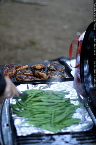 dinner   green beans, cajun chicken