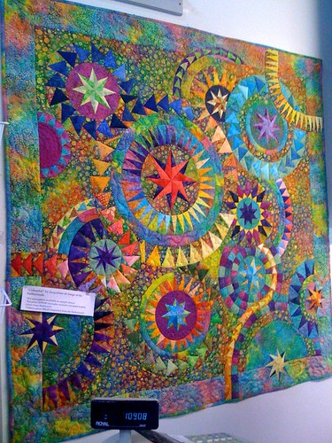 Not my quilt. Seen on display at My Blue Bamboo in Plymouth, Minnesota (metro Minneapolis / St. Paul). Tagline says 'Colourful' by Jacqueline de Jonge of the Netherlands.