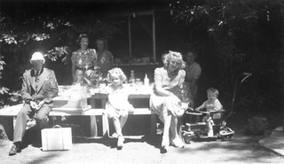 Me (far right) and my mother (seated foreground right) at my cousin Patricia's (center) fifth birthday party, 1941