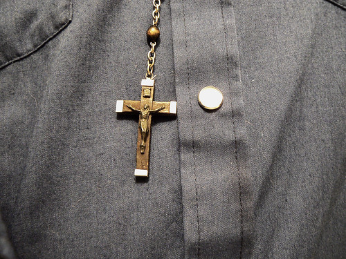 Rosary on Cowboy Shirt