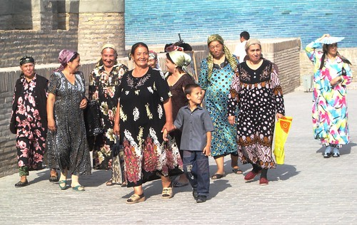 Smiling women in Khiva
