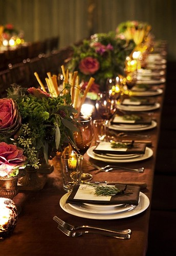 Fall Table-New York Wedding-Christian Oth-Style Me Pretty