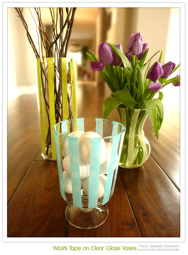DIY - Washi Tape on Vases - To Be Charmed