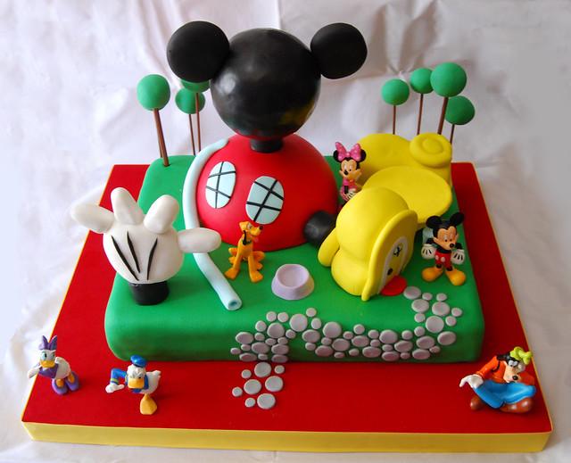 Tortas de casa de Mickey Mouse - Imagui