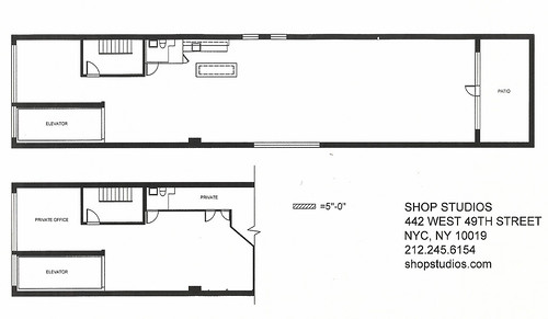 stuido floor plan and green room