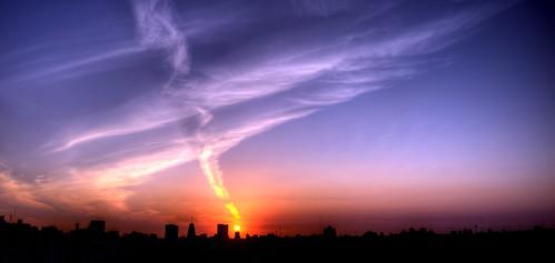 city sunset sun sol argentina buildings edificios buenosaires ciudad ocaso anochecer