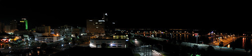 skyline night marina bay harbor us texas corpuschristi pano nueces panographic
