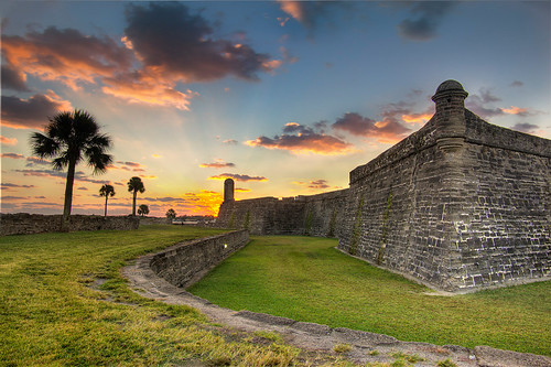 sunrise dawn fort ruin staugustine ftcasillo