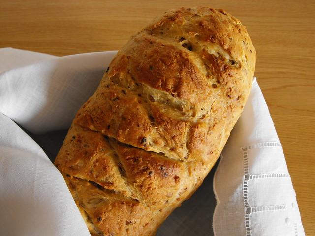 Pão de cebola frita