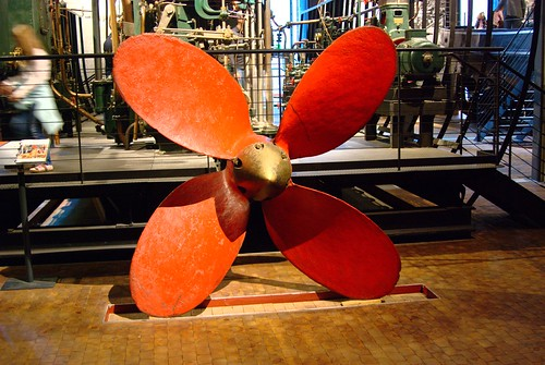 Red Propeller by RV Bob