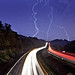 Light Painting Made Easy - Lightning and car traffic trails [EXPLORED] by curtisWarwick