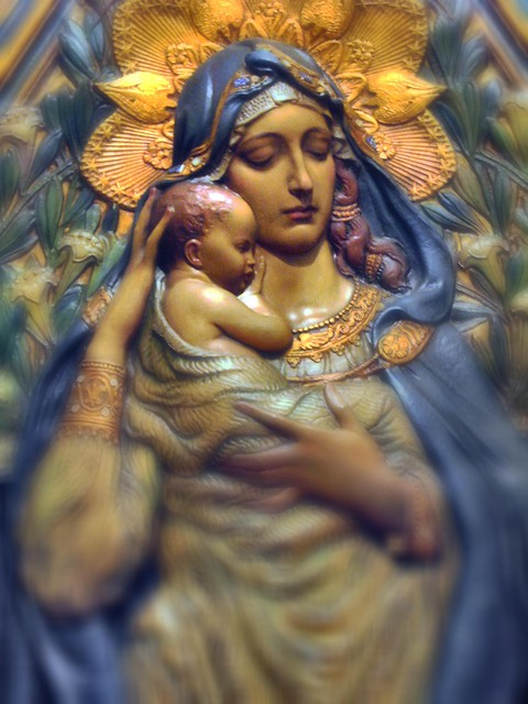 Mother Mary and Infant Jesus