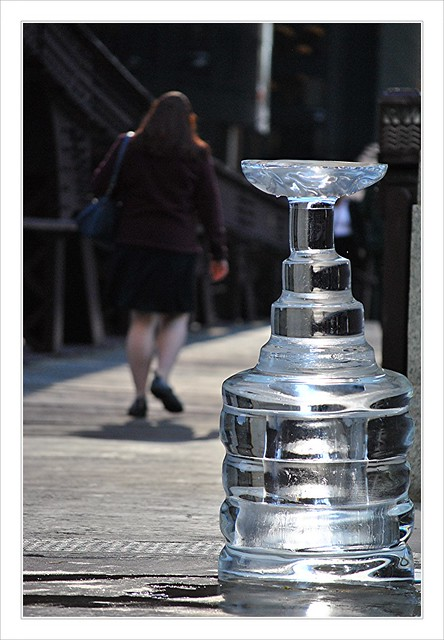Stanley Cup is melting in the sun