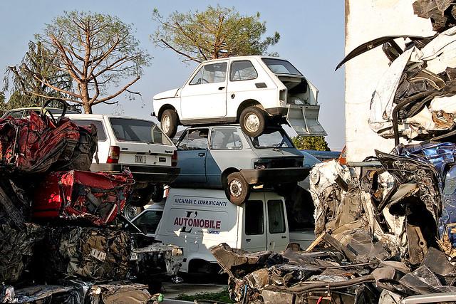 car demolition prov treviso italy flickr photo sharing. Black Bedroom Furniture Sets. Home Design Ideas