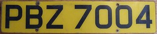 NORTHERN IRELAND, BELFAST 2000's ---YELLOW REAR USE VEHICLE LICENSE PLATE