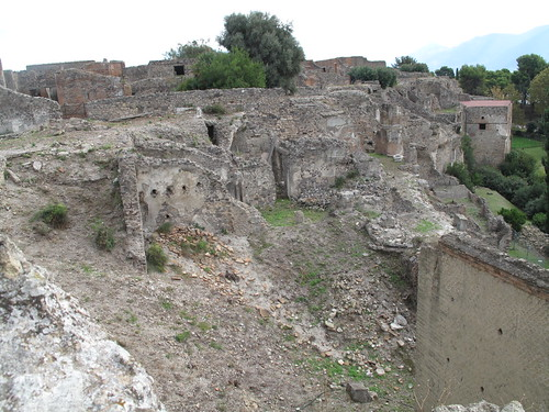 Pompeii. This area has not been fully excavated and restored. Image and caption courtesy Margaret Napier.