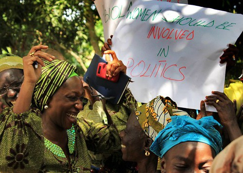 Celebrating women's empowerment at a 16 October women's empowerment rally in Nigeria