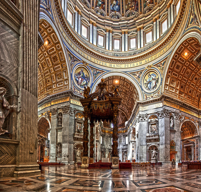 St. Peter's Basilica Interior | Flickr - Photo Sharing!