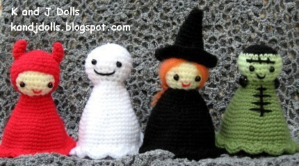 Halloween Amigurumi Crochet Pattern : Halloween amigurumi crochet pattern: devil ghost witch and